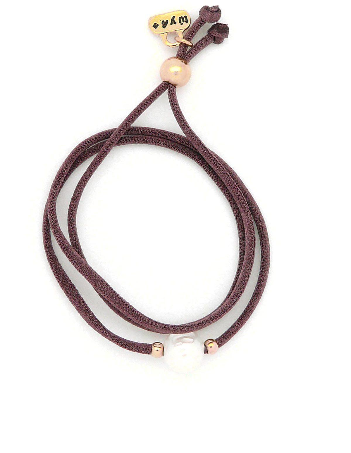 Pulsera / collar perla rosaceo